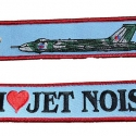 Key Ring, Fabric, 'I Love Jet Noise'