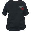 T-Shirt Black cotton with 655MaPS Logo