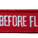 Keyring - Remove before flight